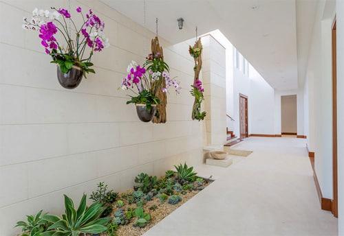 trang trí hành lang cho nhà đẹp, trang trí sân vườn, nhà đẹp